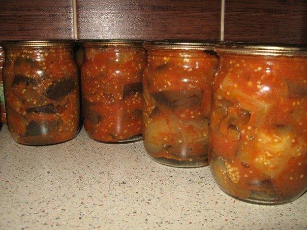 Баклажаны консервированные без стерилизации