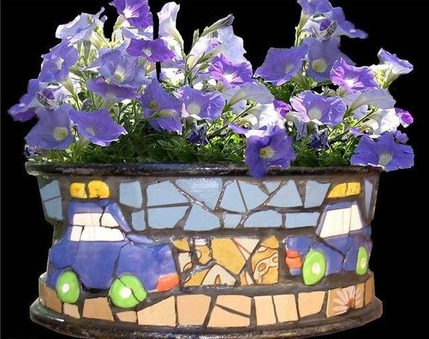 Вазоны для цветов своими руками, для сада. Вазоны для цветов своими 3