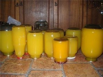 Тыквенный сок с апельсином на зиму